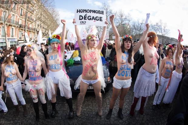 Femen pro gay campaign